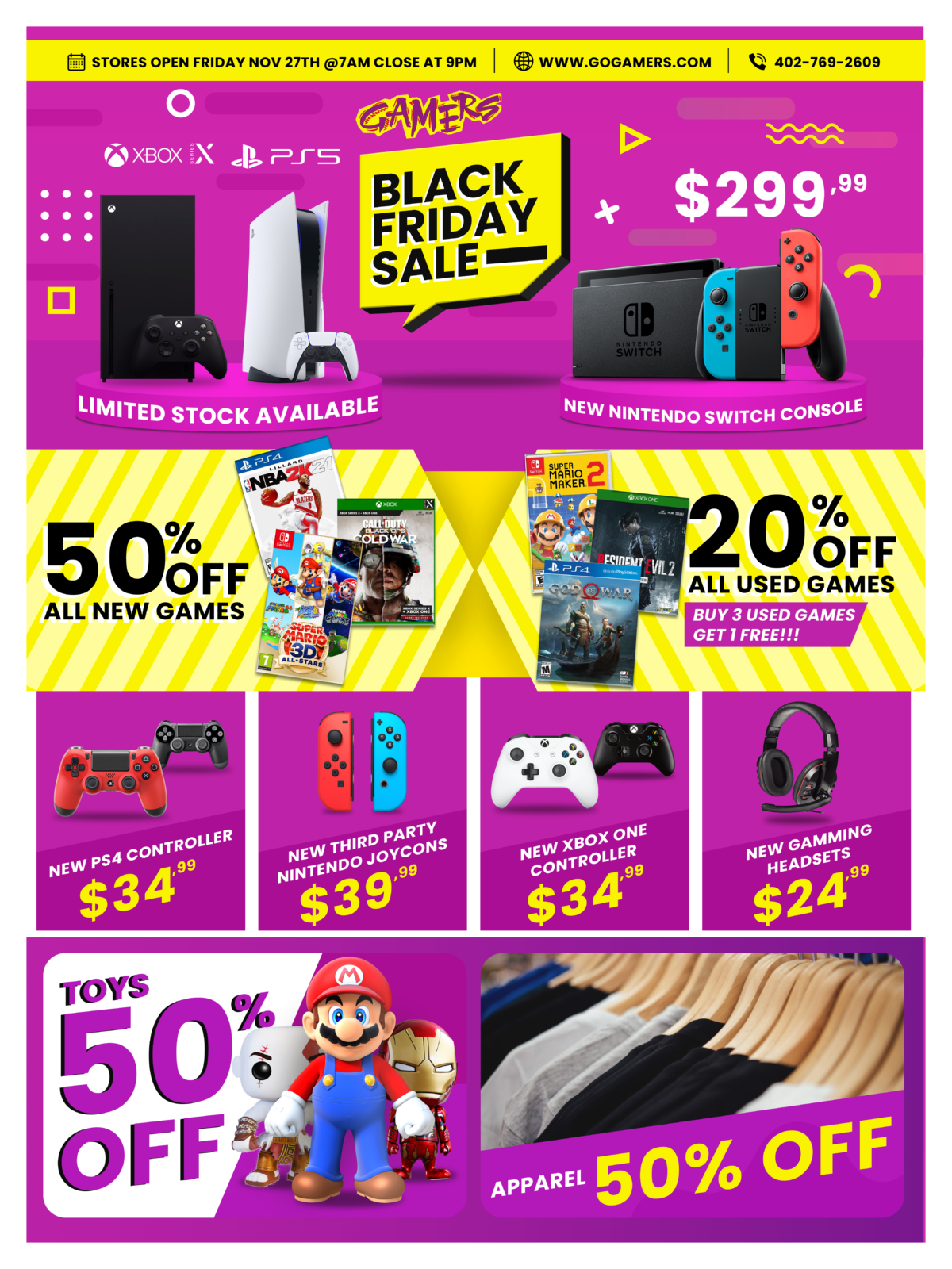 Gamers Black Friday Sales 2020!